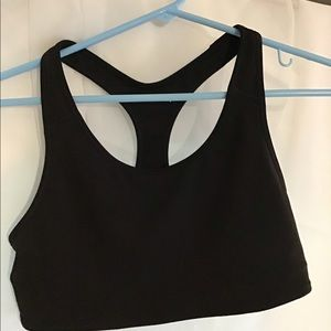 Black sports bra Medium